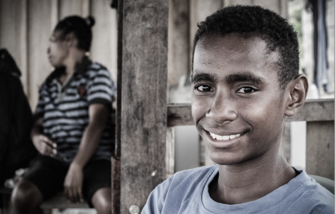 Rivaldo Taime, 13, had the courage to seek help for his family. © UNFPA/Matthew Taylor